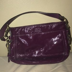 Coach Genuine patent leather plum purse